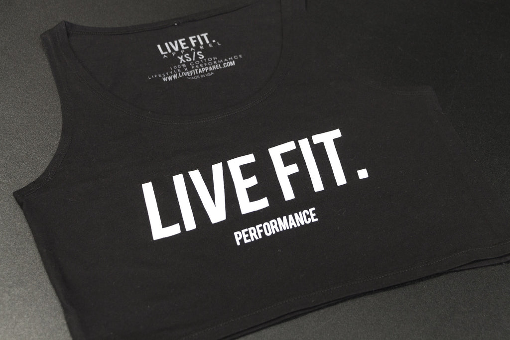 Live Fit Crop Tank - Black