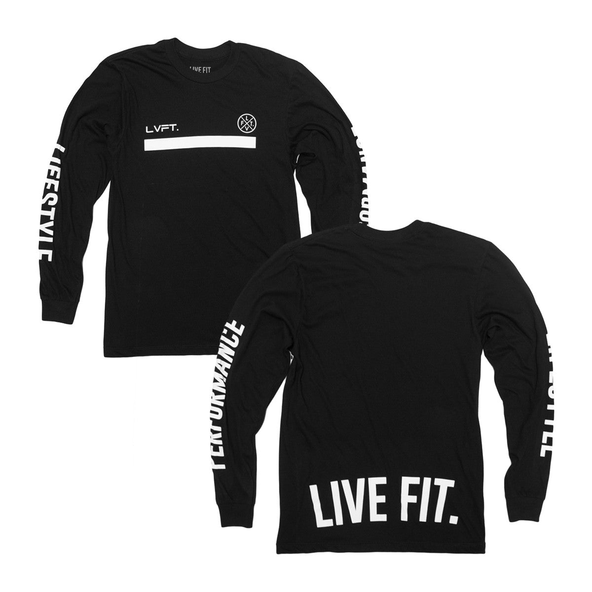 Underline Long Sleeve- Black