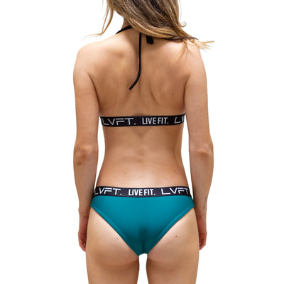 Live Fit Apparel Brianna Cope Signature Bikini Bottom - Teal - LVFT