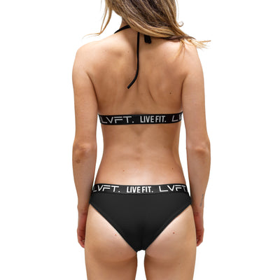 Live Fit Apparel Brianna Cope Signature Bikini Bottom - Black - LVFT
