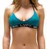 Live Fit Apparel Brianna Cope Signature Bikini Top- Teal - LVFT