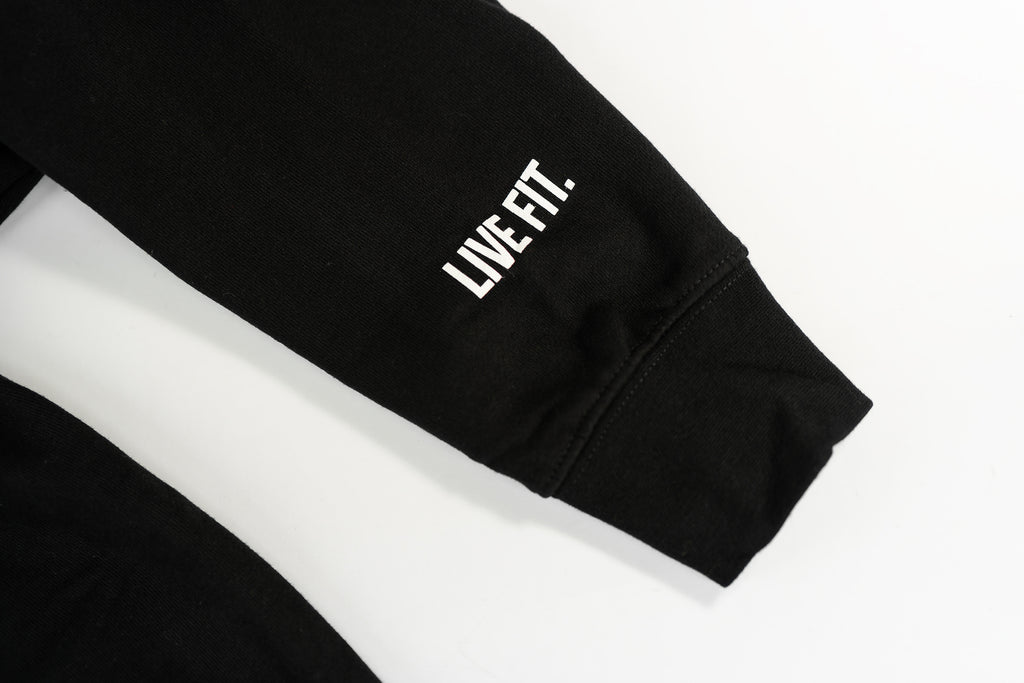 Live Fit Apparel Lifestyle Hoodie - Black / Gold - LVFT