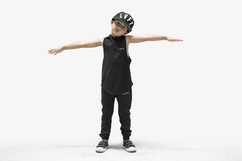 Kid's Tech Joggers - Black