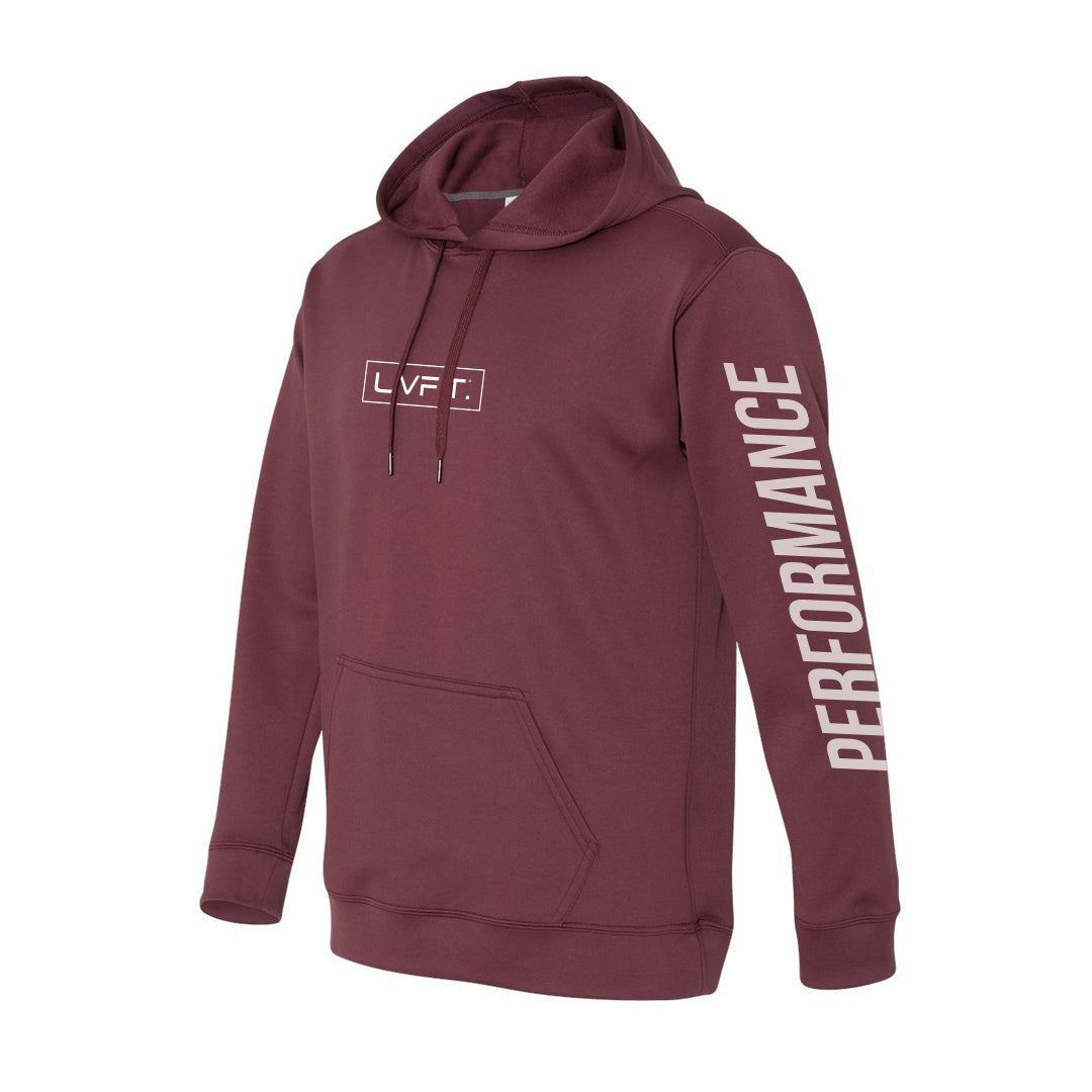 Boxed Performance Tech Hoodie - Burgundy