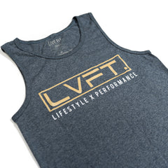 Live Fit Apparel LVFT. LXP Mens Tank - Heather Blue - LVFT