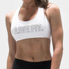 Live Fit Apparel Outline Sports Bra- White - LVFT