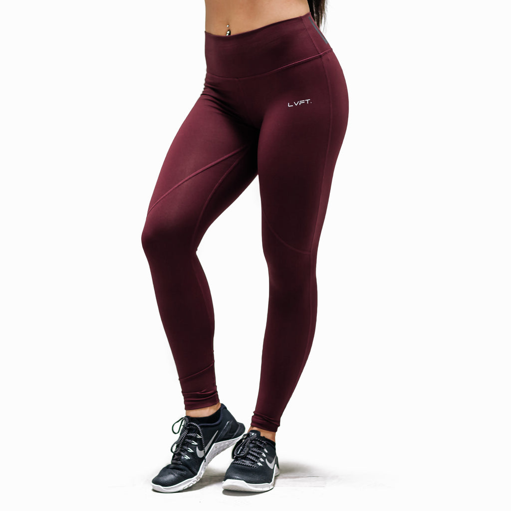High Waisted Live Fit Leggings - Berry