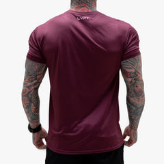 Core Tech Tee - Burgundy