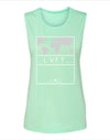 Live Fit Apparel Ladies International muscle tank- Mint - LVFT