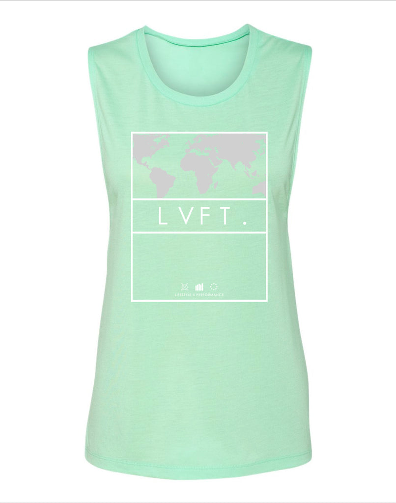 Ladies International muscle tank- Mint