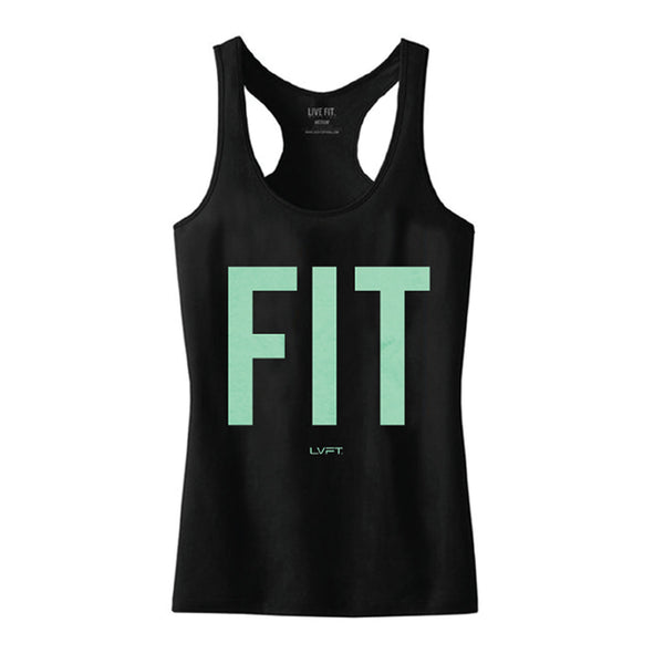 Fit Tank - Black/Mint