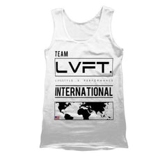 Live Fit Apparel International Tank - White - LVFT