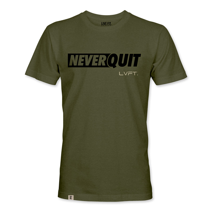 Live Fit Apparel NQ Motto Tee - Military Green - LVFT