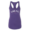 Live Fit Apparel New Standard Racerback Tank - Purple Rush - LVFT