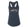 Live Fit Apparel New Standard Racerback Tank - Navy - LVFT