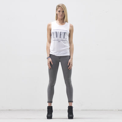 Live Fit Apparel Century Muscle Tank- White - LVFT