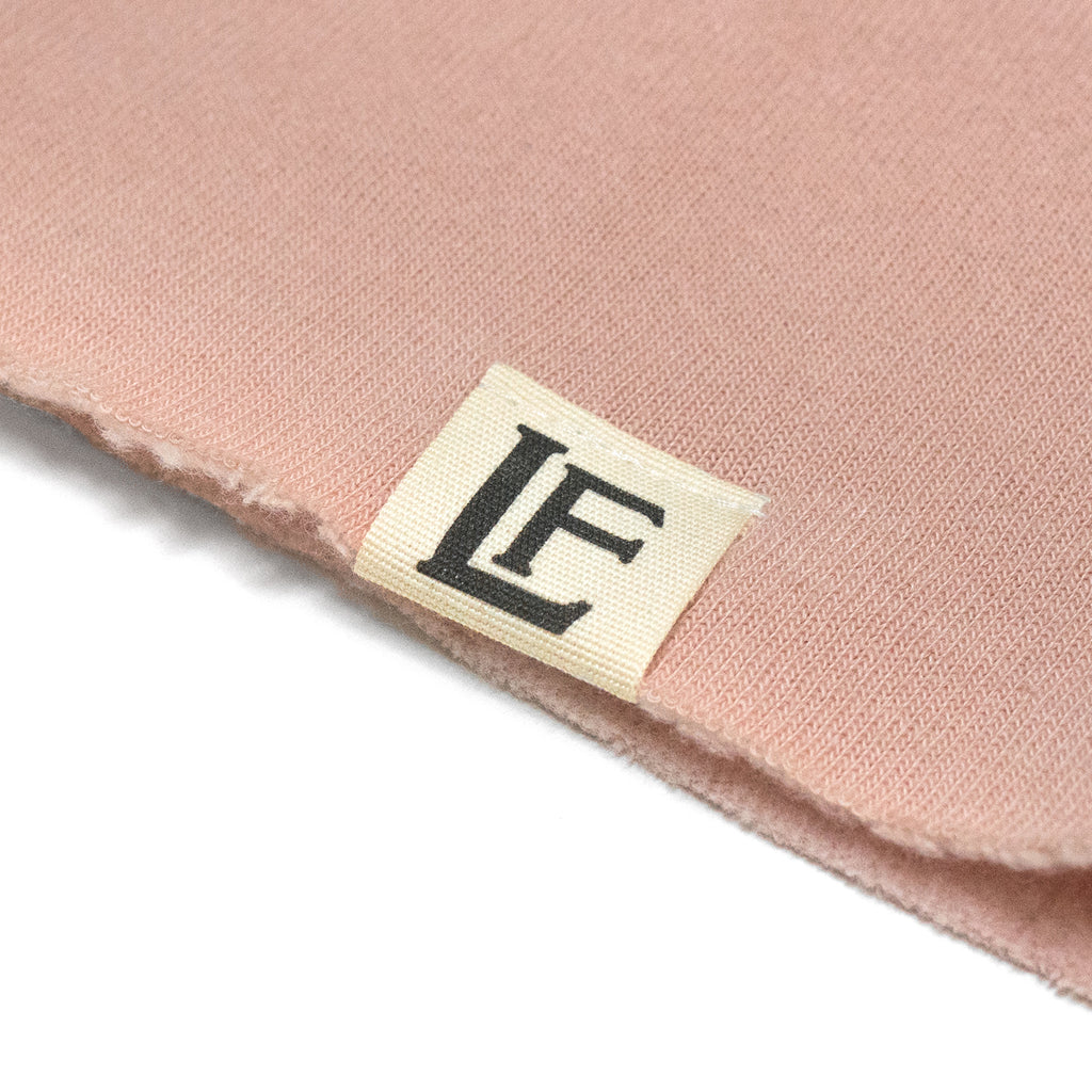 University Cropped Hoodie - Peach / White