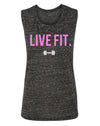 Live Fit Apparel Live Fit Muscle Tank- Black Marble - LVFT