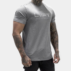 Feather Tech Tee- Heather Grey