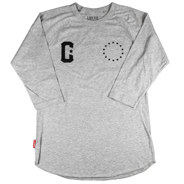 Premium Raglan - Heather Grey