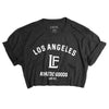 LA Athletics Crop Tee- Vintage Black/ White