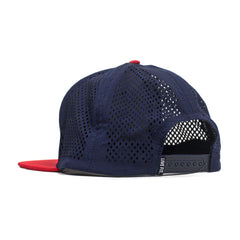 Sport Mesh Cap- Navy/Red