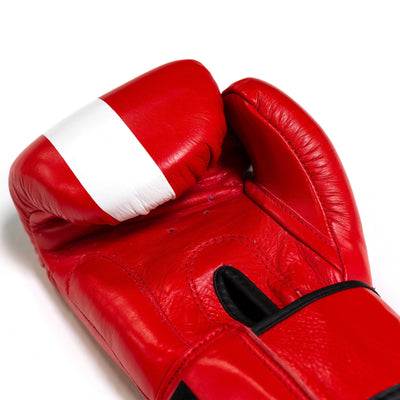 Thai Boxing Gloves- LVFT Stripe- Red