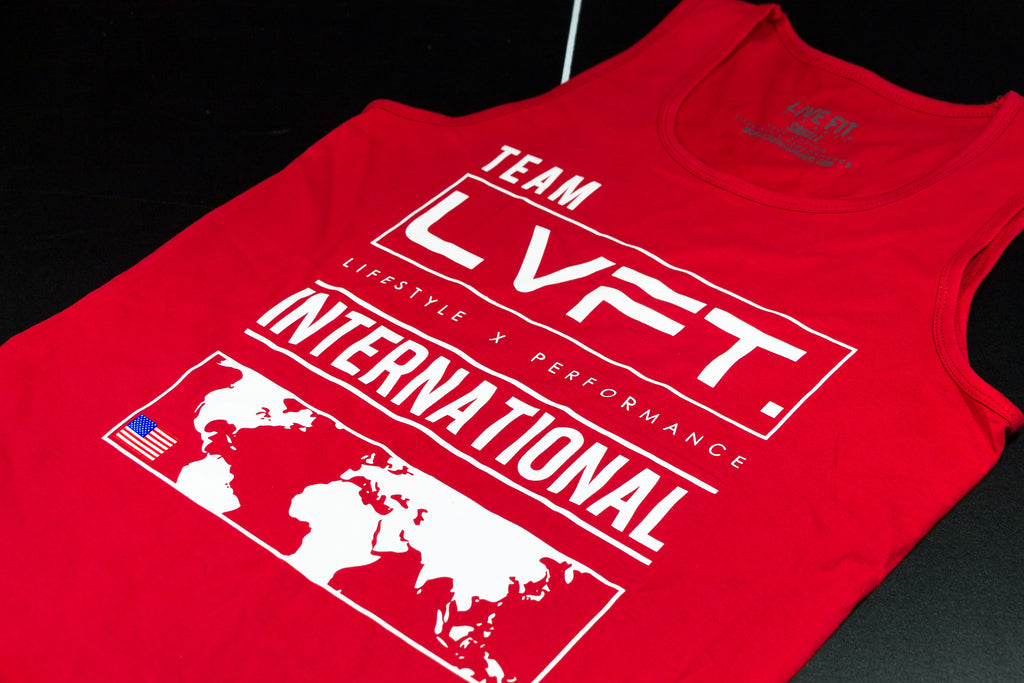 Live Fit Apparel International Tank - Red - LVFT