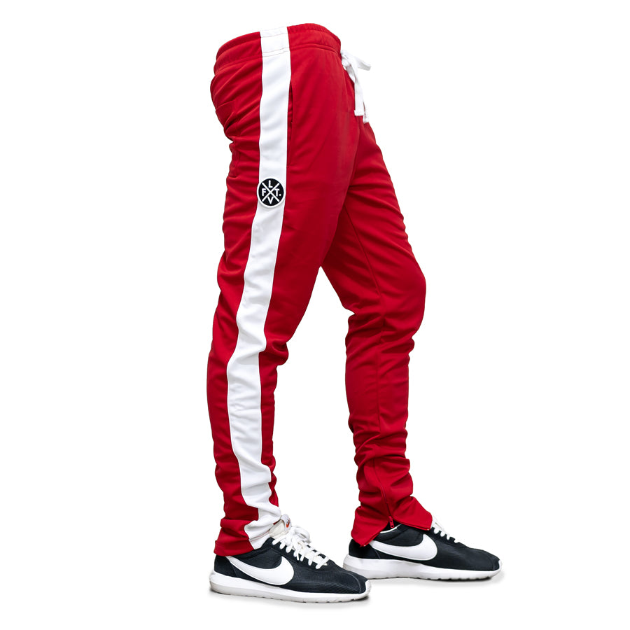 Live Fit Apparel LVFT. Slim Trackies - Red/White - LVFT