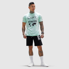 International Tee- Mint / Black