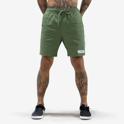 Live Fit Apparel Lifestyle Shorts - Olive - LVFT