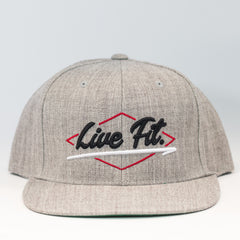 ELECTRIC Snapback- Grey/Black/Red