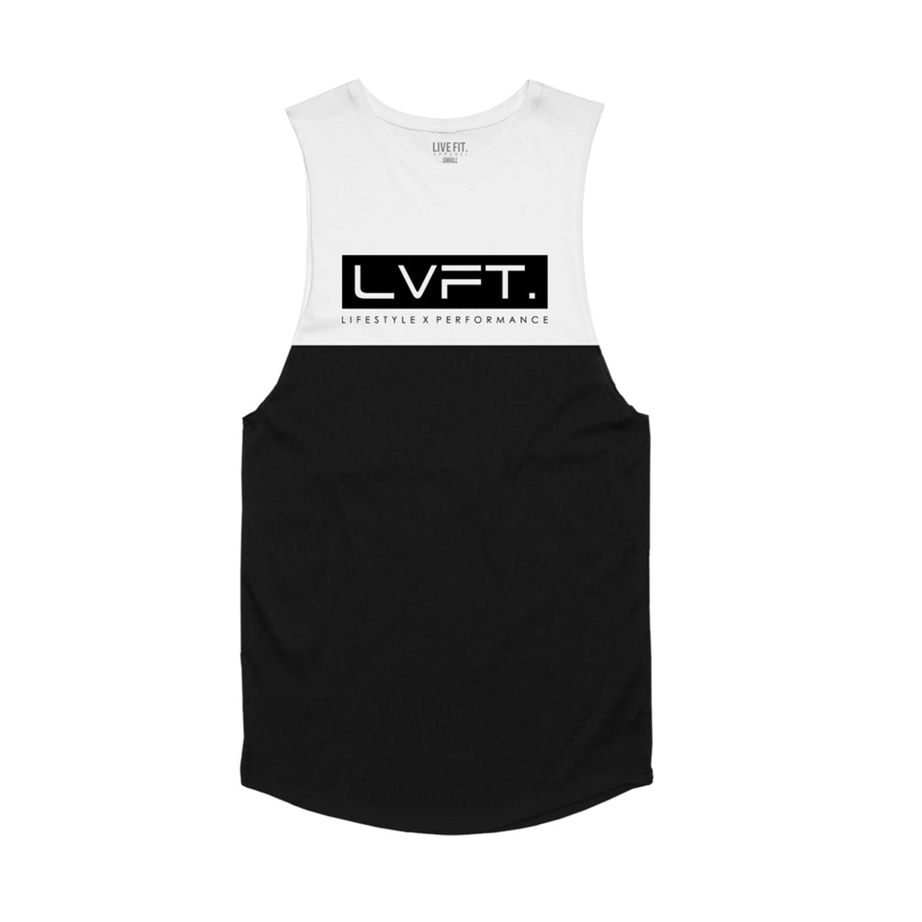 Divided Tank - White / Black