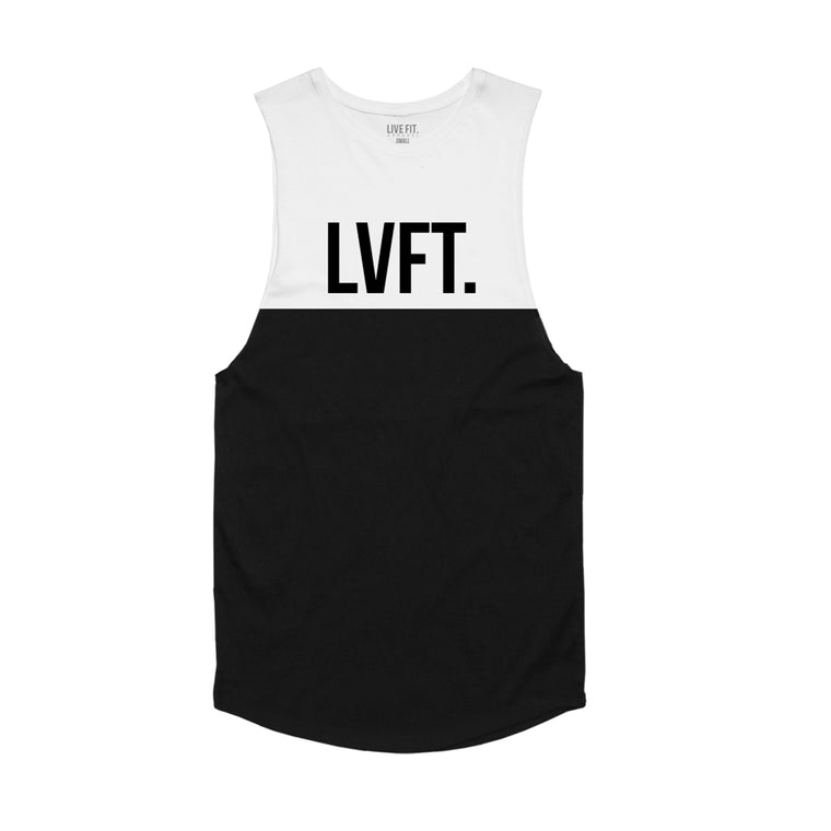 Split Tank - White / Black