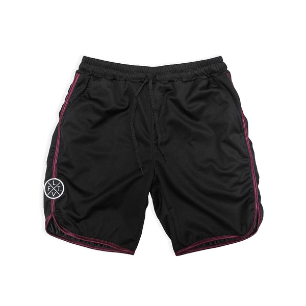 Starter Shorts- Black/Maroon
