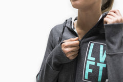 Women's Stacked Zip Up - Charcoal