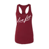 Strike Racer Back Tank - Burgundy
