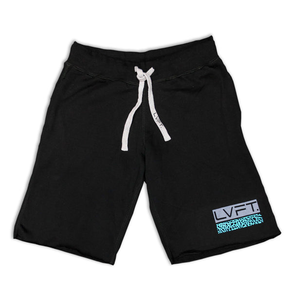 Cement Sweat Shorts-Black