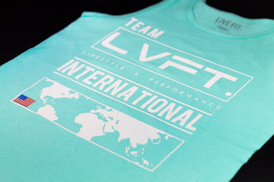 Live Fit Apparel International Tank - Teal - LVFT