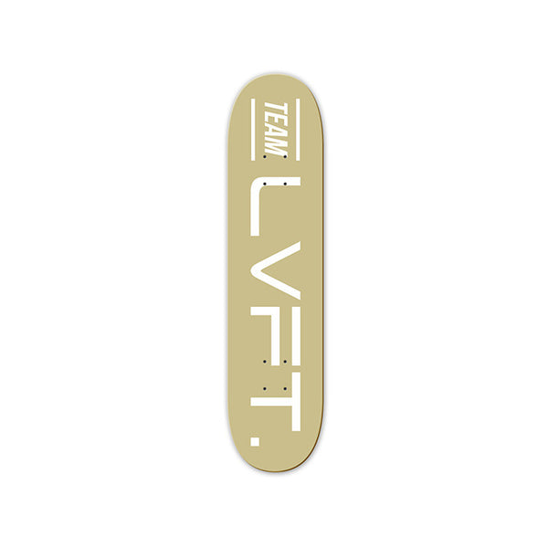 Team LVFT. Skate Deck- Gold