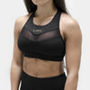 Live Fit Apparel Elite Tech Sports Bra- Black/Gold - LVFT