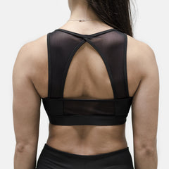 Live Fit Apparel Evo Tech Sports Bra- Black - LVFT.
