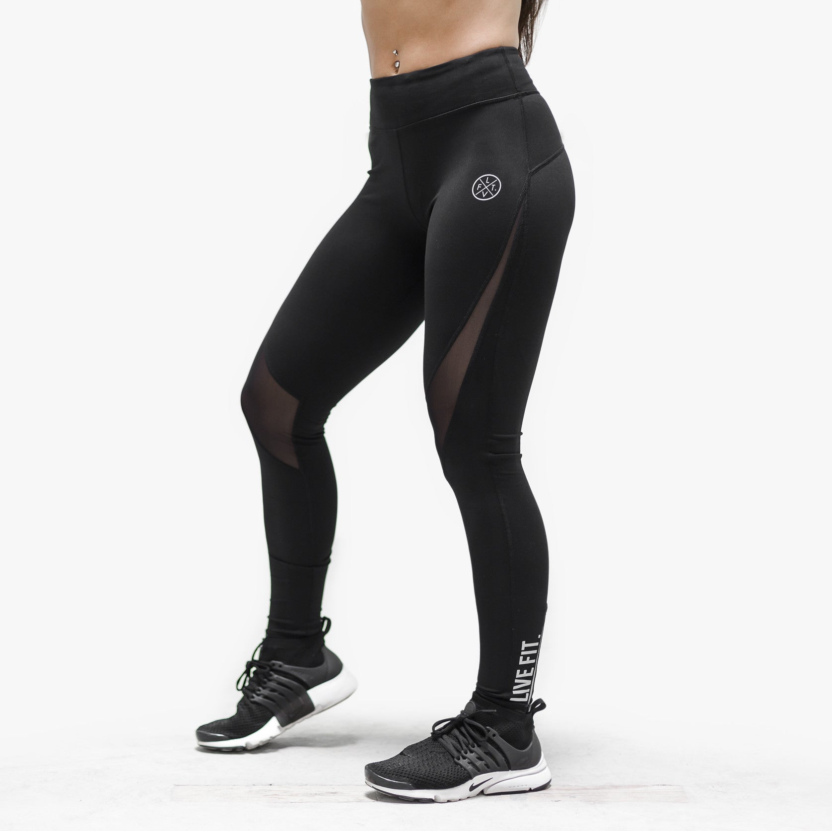 Elite Tech Leggings- Black/Silver