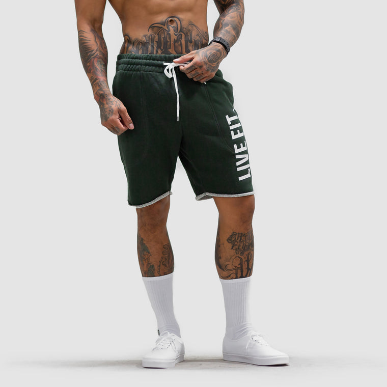 French Terry Live Fit Short - Green Heather