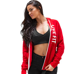 Live Fit Zip Up - Red