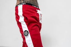 LVFT. Slim Trackies - Red/White