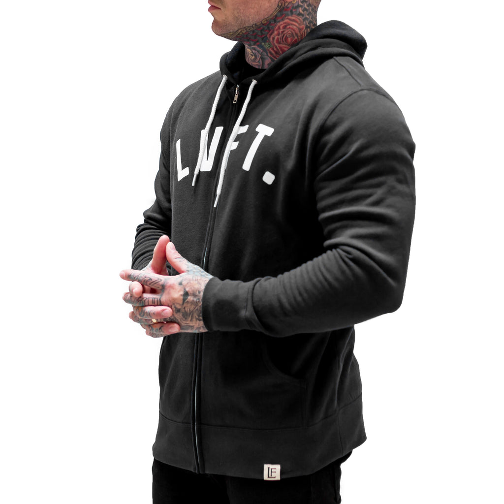 University Zip Up - Black / White
