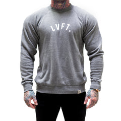 University Crewneck - Heather Grey / White