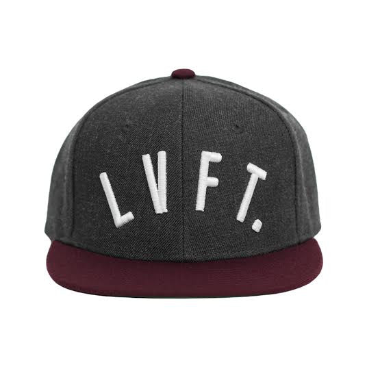 LVFT. Snapback- Dark Grey/Burgundy/White