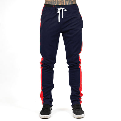 Slim Trackies - Navy / Red
